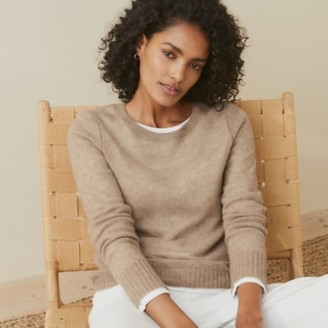 The White Company Cashmere Layering Crew-Neck Jumper , Fawn, Extra Small