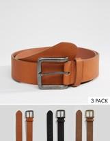 Asos Casual Belt 3 Pack SAVE