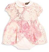 Roberto Cavalli Baby's Reptile & Floral Print Bodysuit