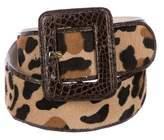 Nancy Gonzalez Ponyhair Leopard Printed Belt