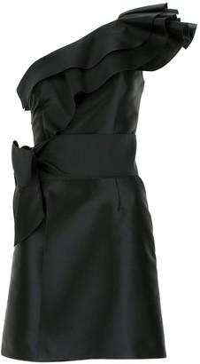 Alberta Ferretti One-Shoulder Ruffled Dress