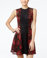 Material Girl Juniors' Floral-Lace Fit & Flare Dress, Only at Macy's