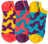 LittleMissMatched Orange Purple & Yellow Butterfly Camo Socks Set