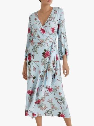 Fenn Wright Manson Lynette Floral Wrap Dress, Spring Blossom
