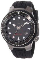 Swiss Legend Women's 11044D-GM-01 Neptune Black Dial Black Silicone Watch