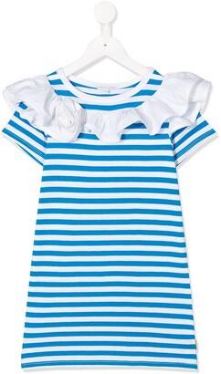 Little Marc Jacobs Stripe Short-Sleeve Dress