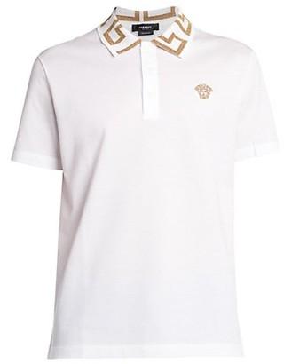 Versace Baroque Collar Polo Shirt
