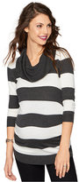 A Pea in the Pod Maternity Striped Cowl-Neck Sweater