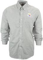 Cutter & Buck Men's Pittsburgh Steelers Tattersall Dress Shirt