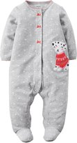 "Carter's Baby Girls' ""101 Smiles"" Footed Coverall"