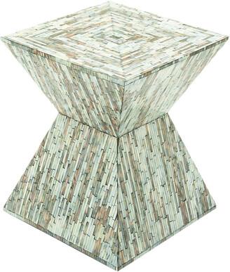 Uma Enterprises Wood Inlay Accent Table