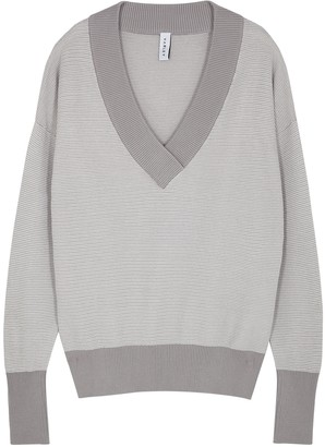 Varley Gower Grey Knitted Cotton Jumper