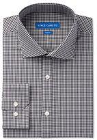 Vince Camuto Men's Slim-Fit Navy/Grey Gingham Dress Shirt