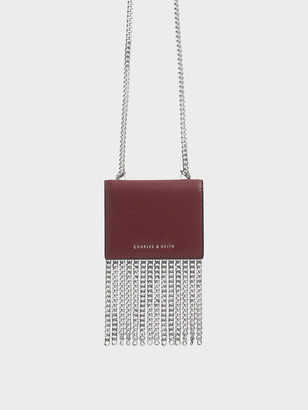 Charles & Keith Chain Fringe Card Holder