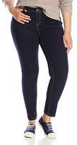 YMI Jeanswear Junior's Plus-Size Wannabettabutt Skinny Jegging Jean