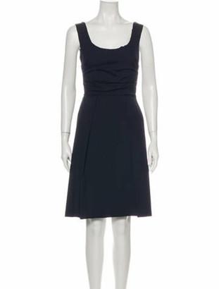 Prada Scoop Neck Knee-Length Dress Blue