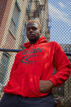BoohoomanBoohooMAN Mens Red Big & Tall MAN Reflective Print Hoodie, Red