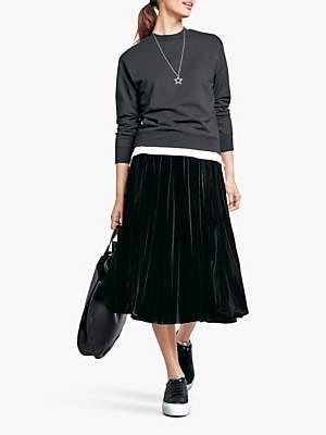 Hush Esme Velour Skirt, Black