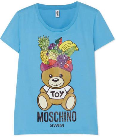 Moschino Fashion Fruits Printed Cotton-jersey T-shirt