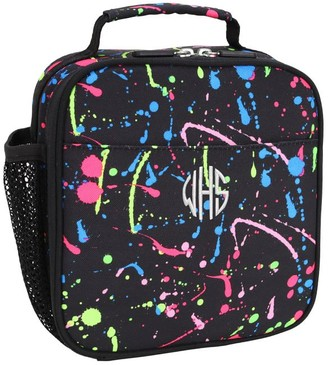 Pottery Barn Teen Gear-Up Splatter Black Recycled Lunch Box