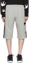 McQ by Alexander McQueen Grey Stripe Lounge Shorts