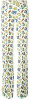 Au Jour Le Jour travel print straight trousers - women - Cotton/Linen/Flax - 38