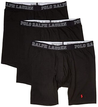 Polo Ralph Lauren 4D-Flex Breathable Mesh Boxer Brief 3-Pack (Polo Black) Men's Underwear