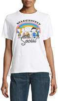 Freeze Short Sleeve Selectively Social Lace Up Side T-Shirt