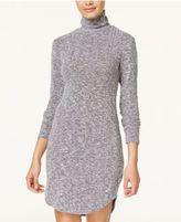 Ultra Flirt Juniors' Heathered Turtleneck Sweater Dress