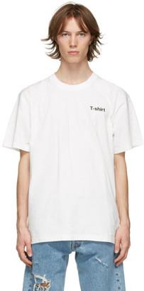Vetements White Definition T-Shirt