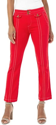 Liverpool Front Flap Pocket Crop Flare in Red Ginger (Red Ginger) Women's Jeans