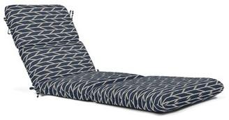 "Charlton Homeâ® Indoor/Outdoor Chaise Lounge Cushion Charlton HomeA Fabric: Blue, Size: 4.5"" H x 23.5"" W x 74"" D"