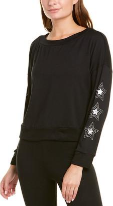 Terez Foil Printed Sleeve Sweatshirt