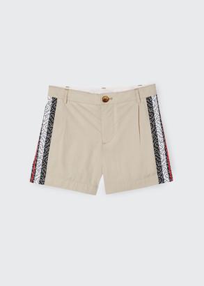 Burberry Boy's Ali Monogram Trim Shorts, Size 3-14