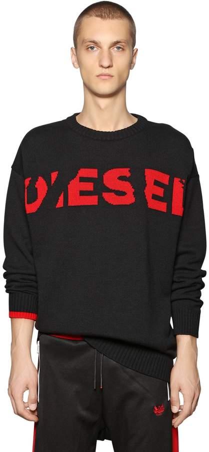 Diesel Oversize Wool Blend Jacquard Sweater