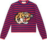 Gucci Striped wool knit top