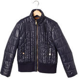 Tory Burch Girls' Quilted Bomber Jacket