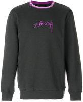 Stussy contrast collar logo sweatshirt