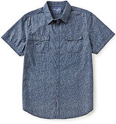 Calvin Klein Jeans Short-Sleeve Floral Chambray Shirt