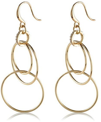 Pilgrim Earrings : Fire : Gold Plated : Crystal
