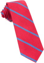 The Tie Bar Apple Red Spring Break Stripe Tie