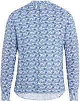 Altea Feather-print linen shirt