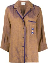Forte Forte contrast trim embroidered detail jacket