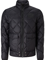 Diesel W-spill Quilted Down Jacket, Black