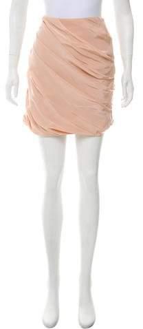 Behnaz Sarafpour Draped Silk Skirt w/ Tags