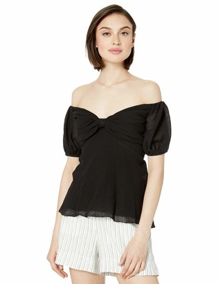 Bailey 44 Women's Jungle Out Puff Sleeve Off The Shoulder Top