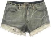 Free People Blue Denim - Jeans Shorts