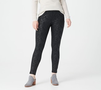 Women With Control Women with Control Regular Embossed Ponte Royale Leggings