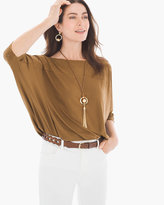 Chico's Perforated Faux-Suede Top