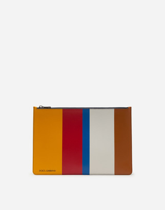 Dolce & Gabbana Multicolored Document Carrier In Mixed Materials